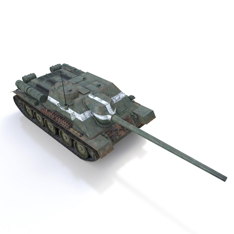 su-100 – 22 – soviet tank destroyer 3d model 3ds fbx c4d lwo obj 314682