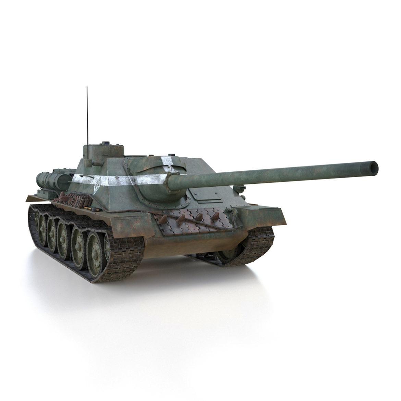 su-100 – 22 – soviet tank destroyer 3d model 3ds fbx c4d lwo obj 314683