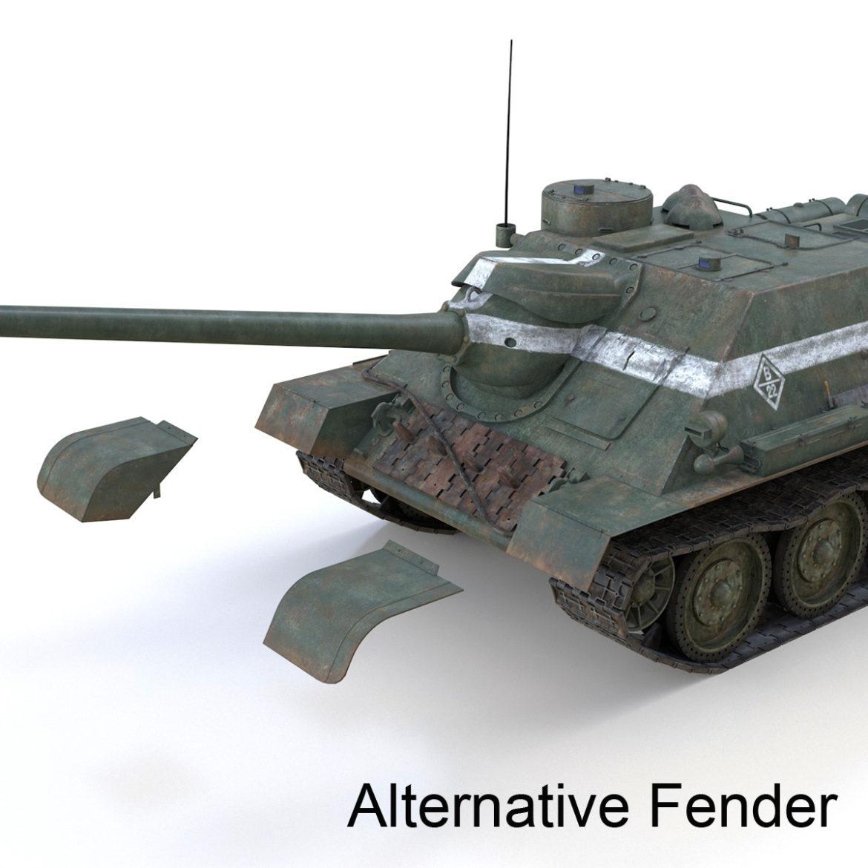 su-100 – 22 – soviet tank destroyer 3d model 3ds fbx c4d lwo obj 314684
