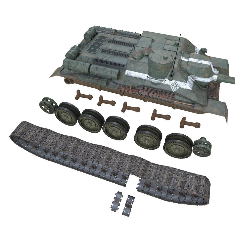 su-100 – 22 – soviet tank destroyer 3d model 3ds fbx c4d lwo obj 314686