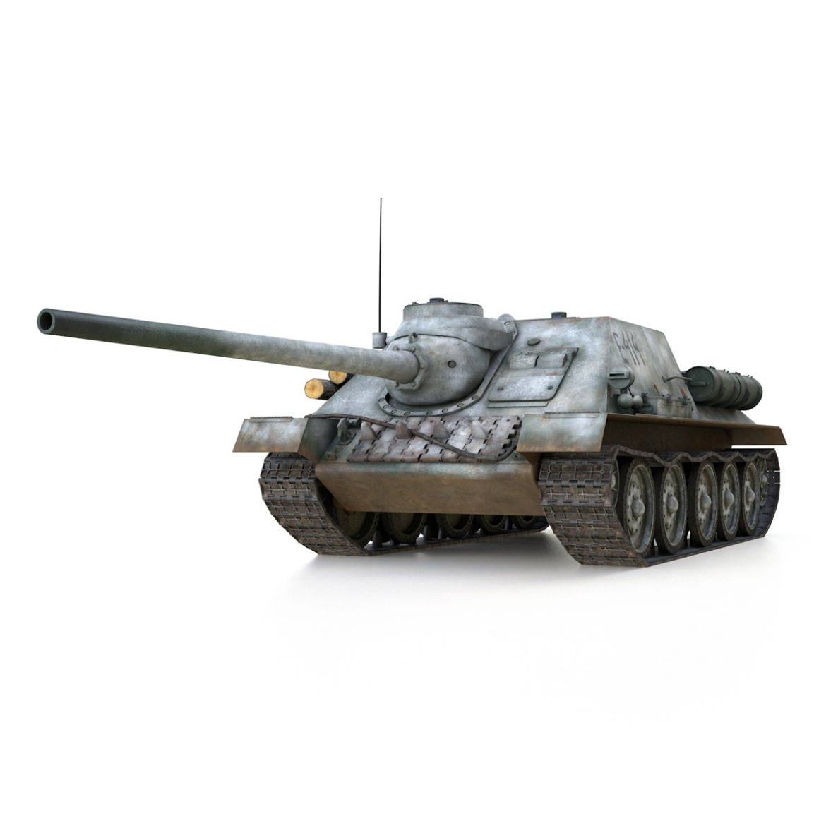 su-100 – e414 – soviet tank destroyer 3d model 3ds c4d lwo obj 314695