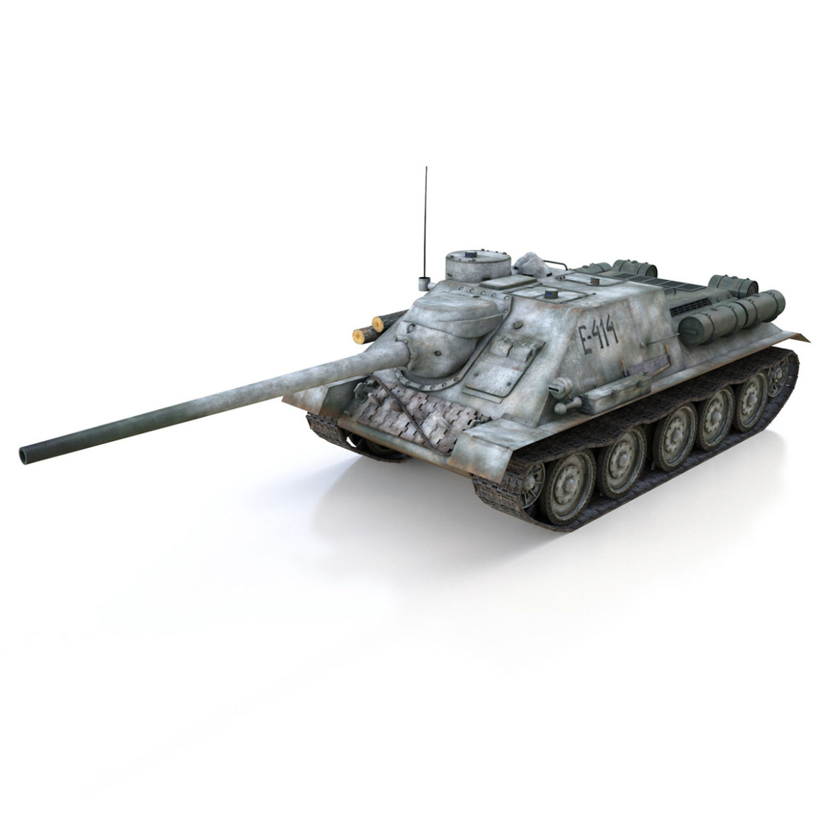 su-100 – e414 – soviet tank destroyer 3d model 3ds c4d lwo obj 314696