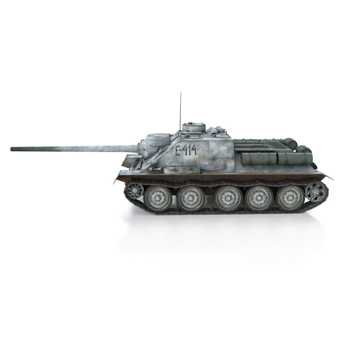 su-100 – e414 – soviet tank destroyer 3d model 3ds c4d lwo obj 314697