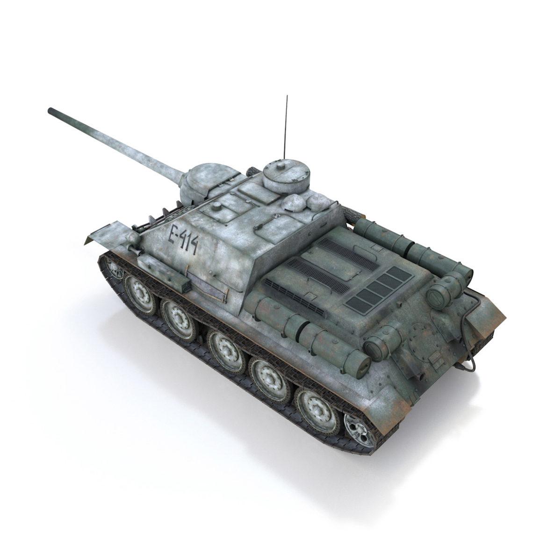 su-100 - e414 - padomju tanku iznīcinātājs 3d modelis 3ds c4d lwo obj 314698