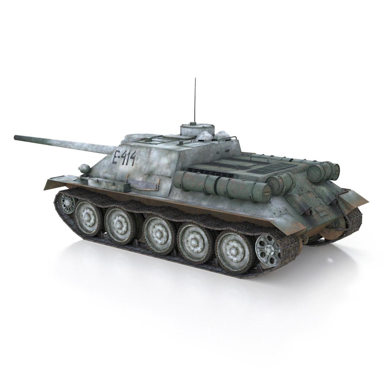 su-100 - e414 - padomju tanku iznīcinātājs 3d modelis 3ds c4d lwo obj 314699