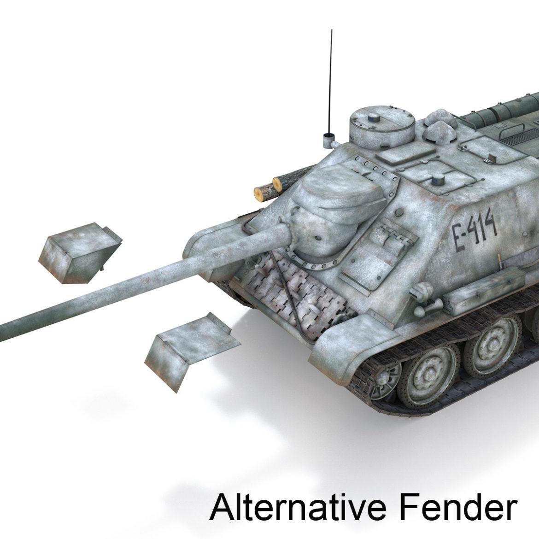 su-100 - e414 - padomju tanku iznīcinātājs 3d modelis 3ds c4d lwo obj 314704