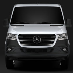 mercedes benz sprinter panel van l1h1 fwd 2019 3d model 3ds max fbx c4d lwo ma mb hrc xsi obj 314984