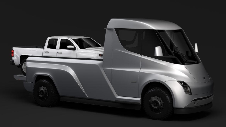tesla pickup 2020 3d model 3ds max fbx c4d lwo ma mb hrc xsi obj 315400