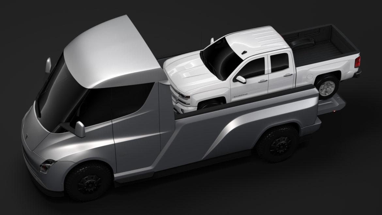 tesla pickup 2020 3d model 3ds max fbx c4d lwo ma mb hrc xsi obj 315402