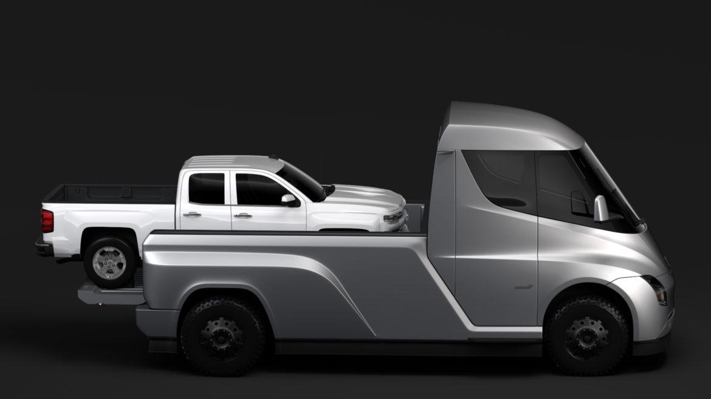 tesla pickup 2020 3d model 3ds max fbx c4d lwo ma mb hrc xsi obj 315403