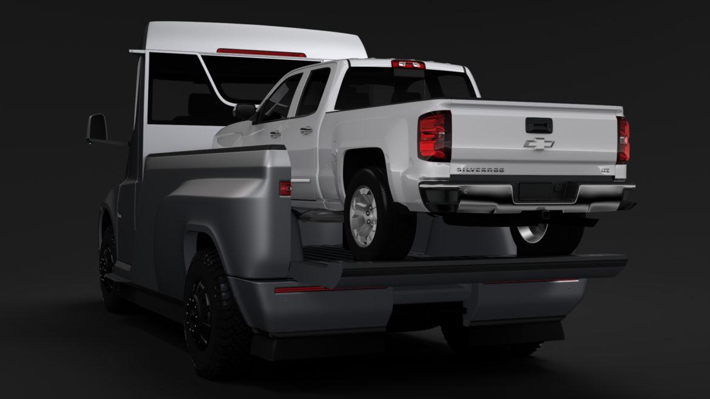 tesla pickup 2020 3d model 3ds max fbx c4d lwo ma mb hrc xsi obj 315405