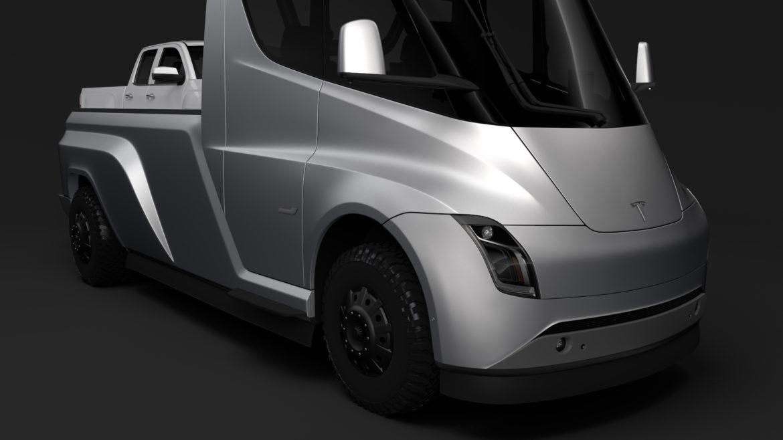 tesla pickup 2020 3d model 3ds max fbx c4d lwo ma mb hrc xsi obj 315406