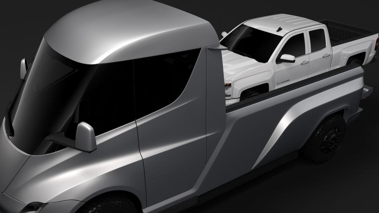 tesla pickup 2020 3d model 3ds max fbx c4d lwo ma mb hrc xsi obj 315407
