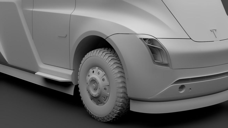 tesla pickup 2020 3d model 3ds max fbx c4d lwo ma mb hrc xsi obj 315411