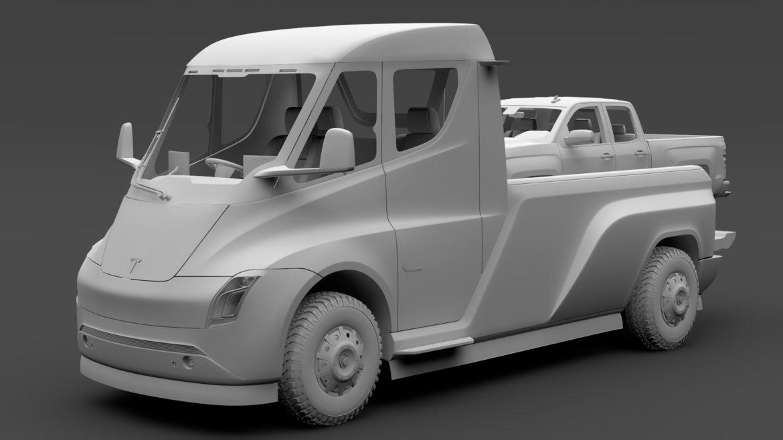 tesla pickup 2020 3d model 3ds max fbx c4d lwo ma mb hrc xsi obj 315412