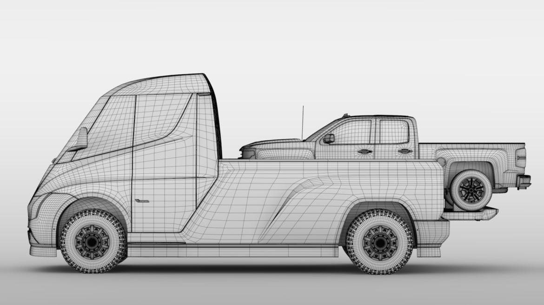 tesla pickup 2020 3d model 3ds max fbx c4d lwo ma mb hrc xsi obj 315417