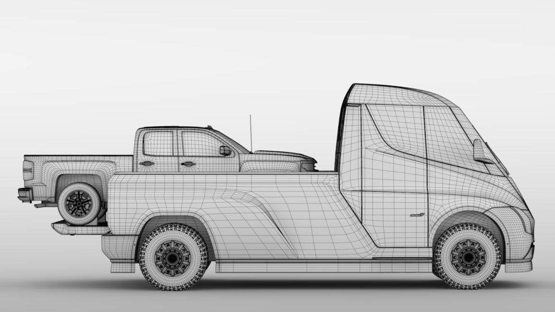 tesla pickup 2020 3d model 3ds max fbx c4d lwo ma mb hrc xsi obj 315419