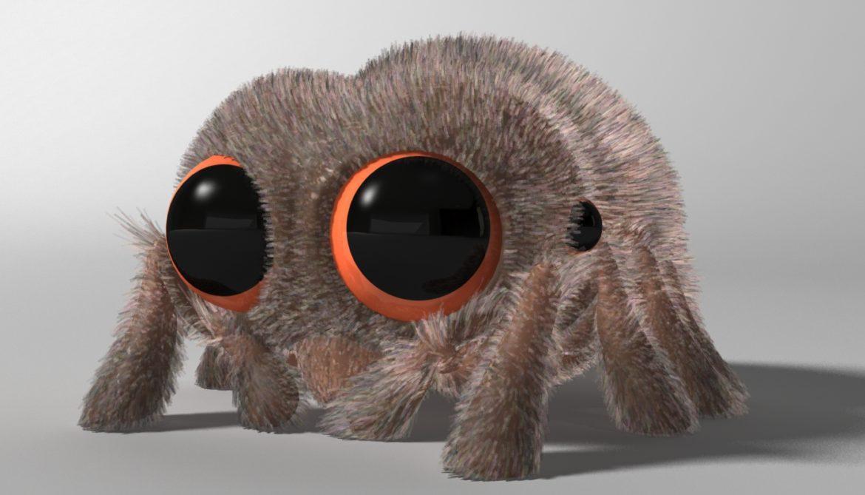karikatūra zirneklis piestiprināts 3d modelis 3ds max fbx obj 315619