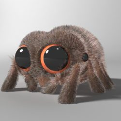 cartoon spider rigged 3d model 3ds max fbx  obj 315620
