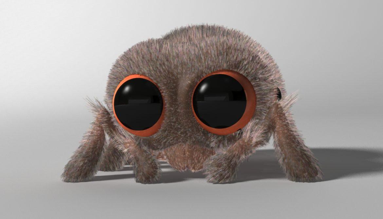 karikatūra zirneklis piestiprināts 3d modelis 3ds max fbx obj 315621
