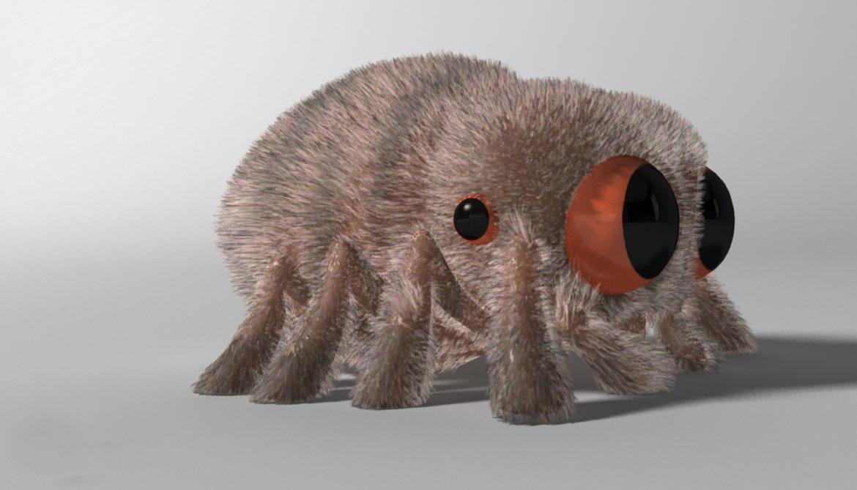 karikatūra zirneklis piestiprināts 3d modelis 3ds max fbx obj 315622
