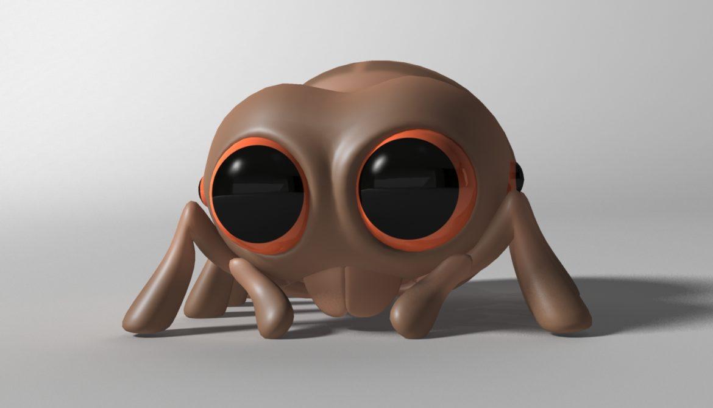 karikatūra zirneklis piestiprināts 3d modelis 3ds max fbx obj 315624