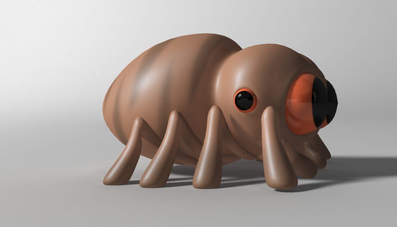 karikatūra zirneklis piestiprināts 3d modelis 3ds max fbx obj 315625