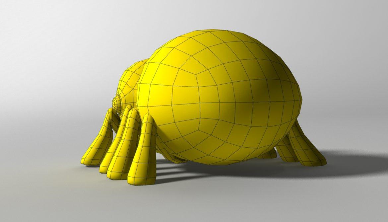 karikatūra zirneklis piestiprināts 3d modelis 3ds max fbx obj 315629