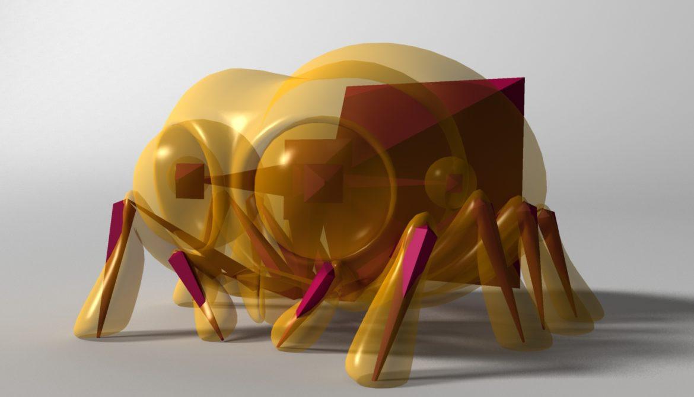 karikatūra zirneklis piestiprināts 3d modelis 3ds max fbx obj 315630