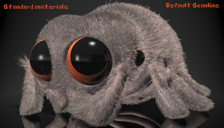 karikatūra zirneklis piestiprināts 3d modelis 3ds max fbx obj 315631