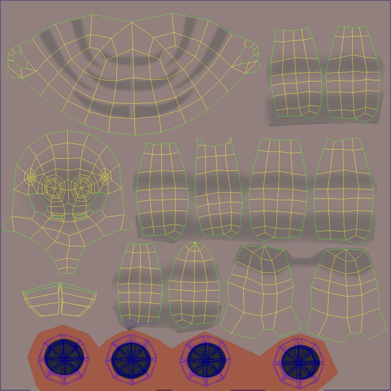 karikatūra zirneklis piestiprināts 3d modelis 3ds max fbx obj 315632