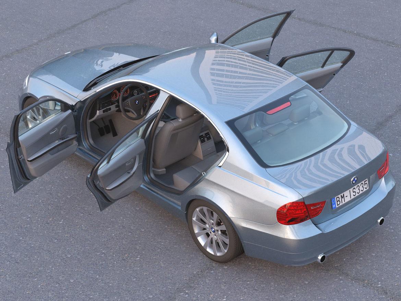 e90 3-series sedan 2009 3d model 3ds max fbx c4d dae obj 315671