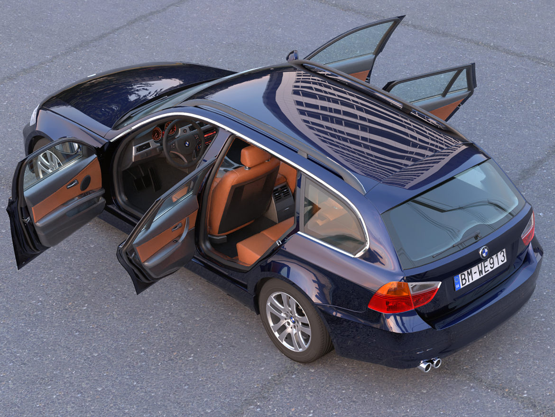 e91 3-series touring 2006 3d model 3ds max fbx c4d dae obj 315706