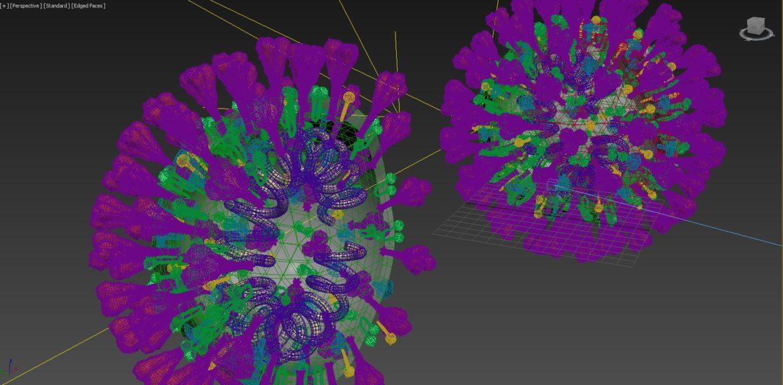 covid-19 virus 3d model max 316988