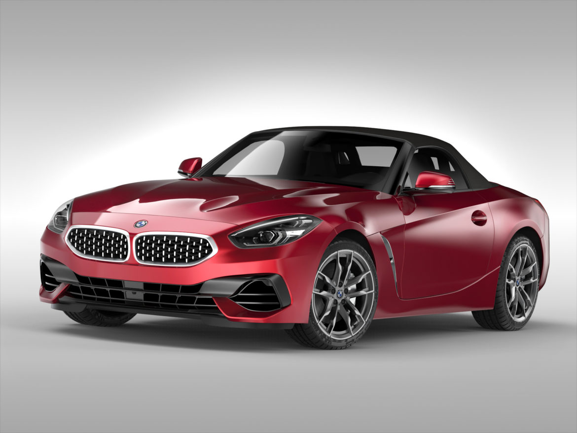 bmw z4 (2019) 3d model 3ds max fbx blend c4d ma mb skp obj 317008