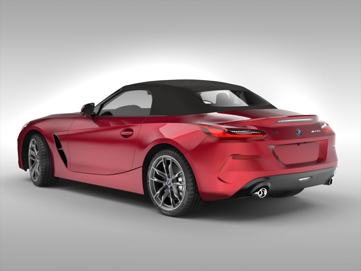 bmw z4 (2019) 3d model 3ds max fbx blend c4d ma mb skp obj 317009