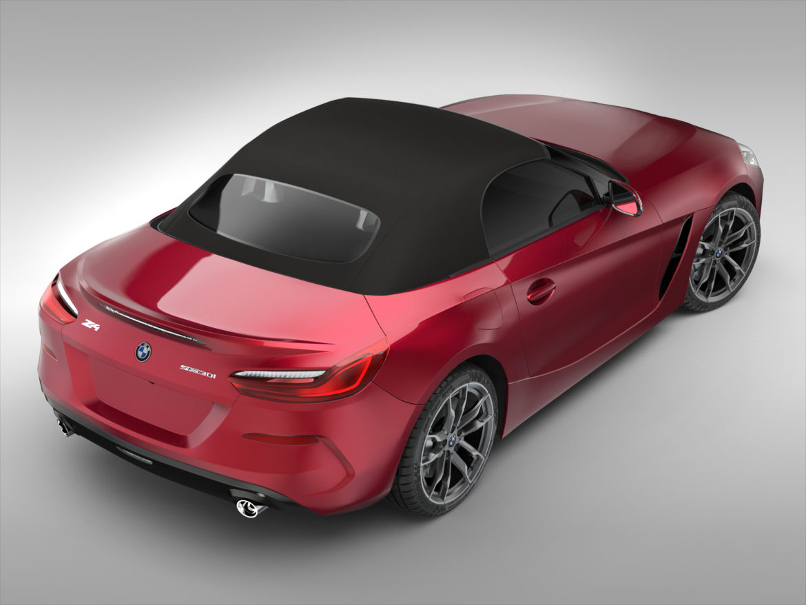 bmw z4 (2019) 3d model 3ds max fbx blend c4d ma mb skp obj 317010
