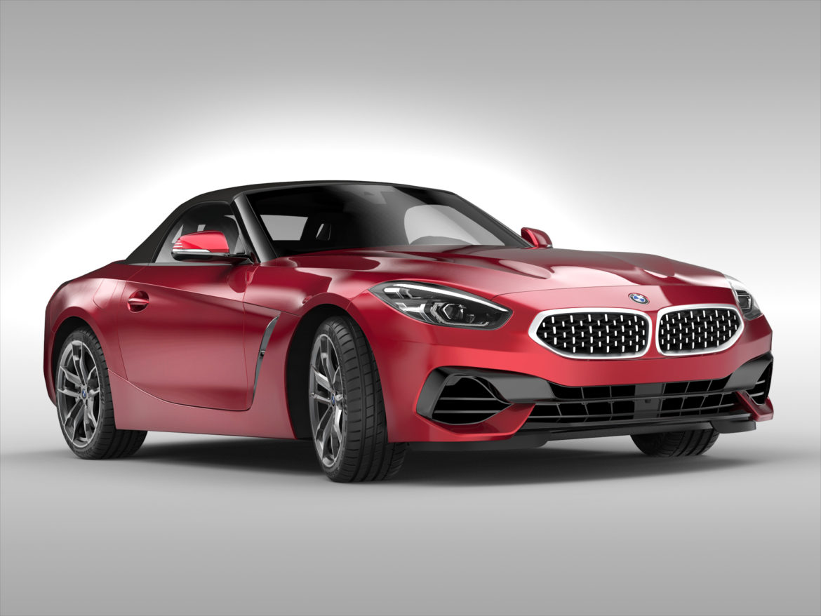 bmw z4 (2019) 3d model 3ds max fbx blend c4d ma mb skp obj 317011