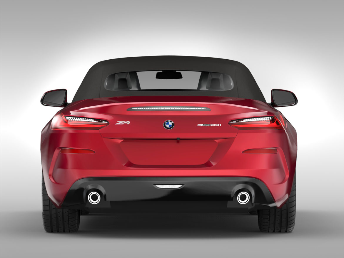 bmw z4 (2019) 3d model 3ds max fbx blend c4d ma mb skp obj 317013