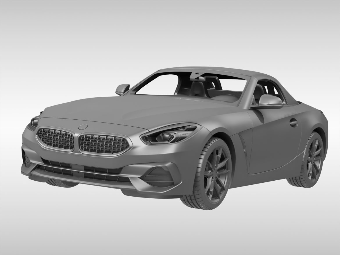 bmw z4 (2019) 3d model 3ds max fbx blend c4d ma mb skp obj 317014