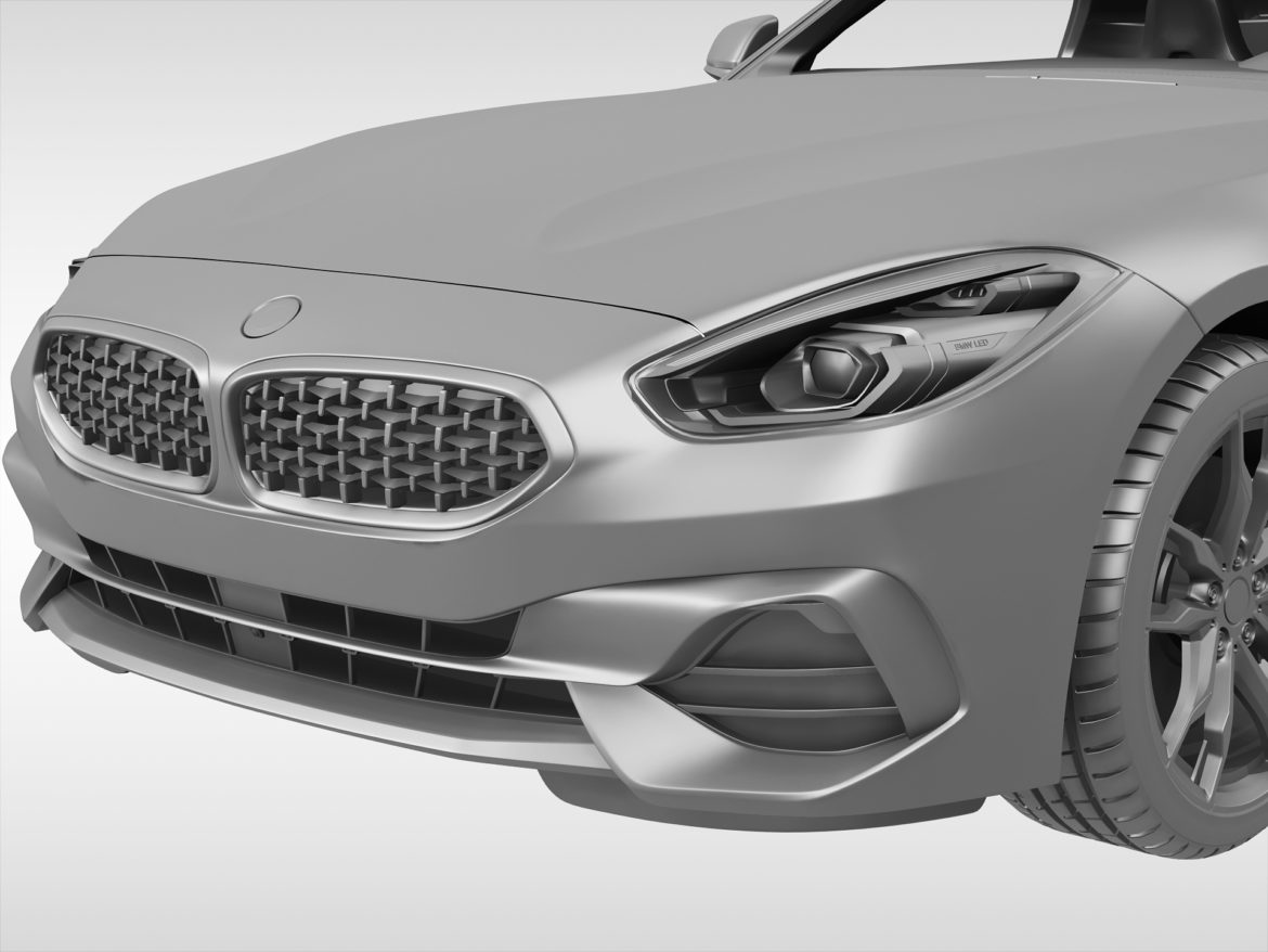bmw z4 (2019) 3d model 3ds max fbx blend c4d ma mb skp obj 317017