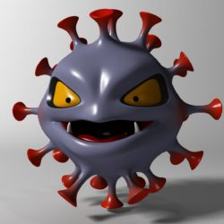 cartoon coronavirus 3d model 3ds max fbx  obj 317168