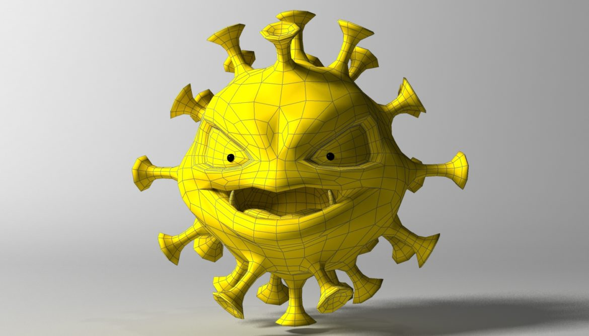cartoon coronavirus 3d model 3ds max fbx  obj 317173