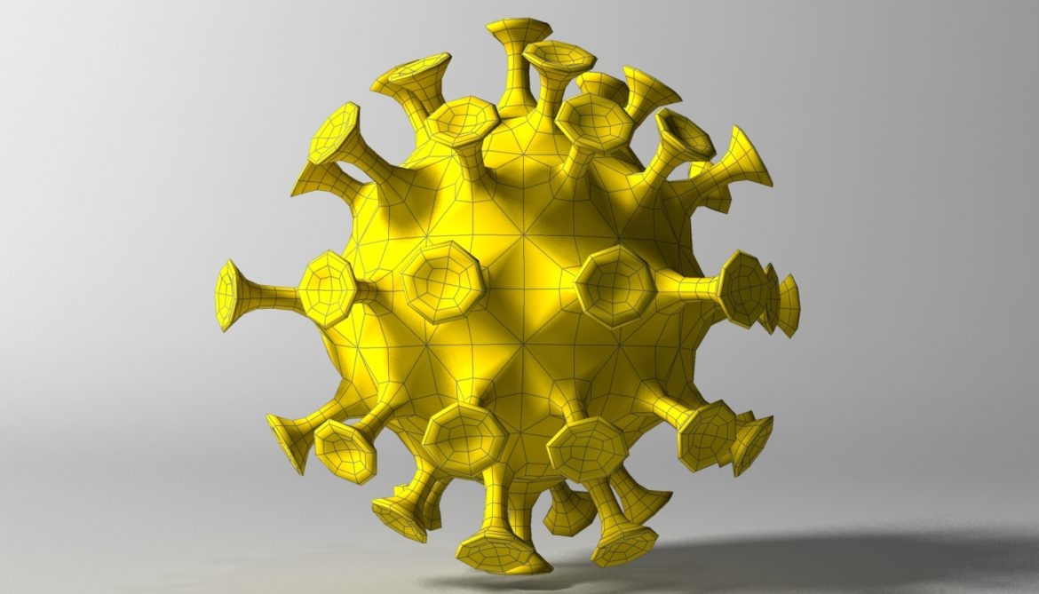 cartoon coronavirus 3d model 3ds max fbx  obj 317175