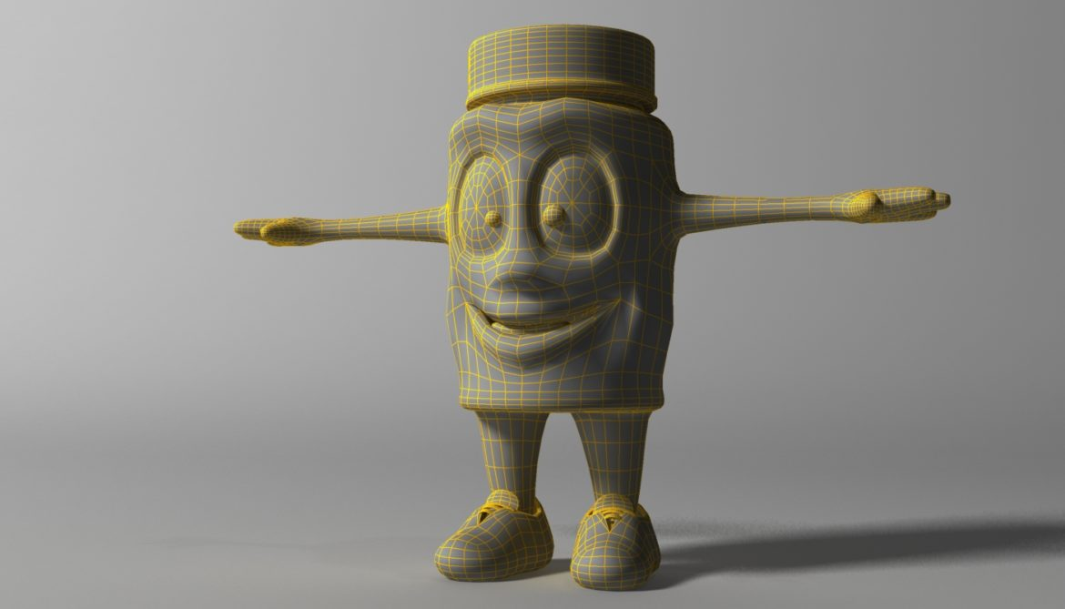 cartoon covid killer rigged and animated 3d model 3ds max fbx  obj 318033
