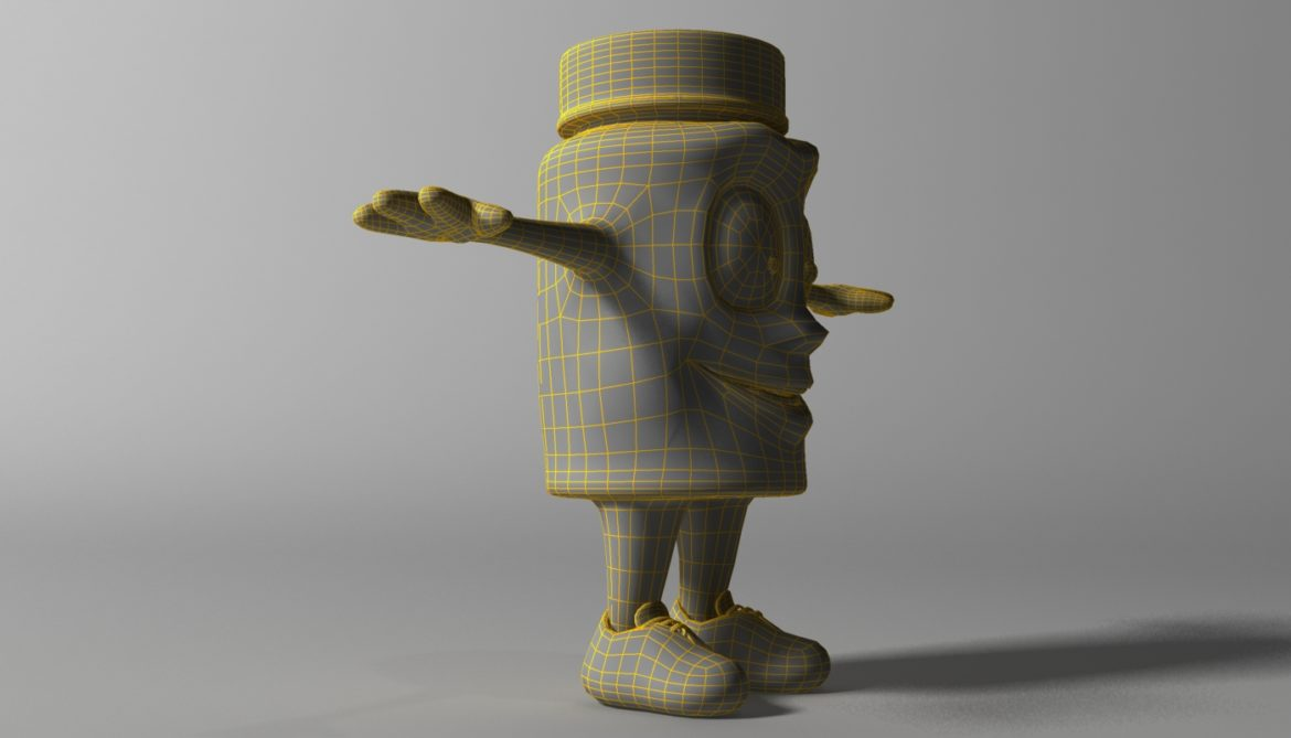 cartoon covid killer rigged and animated 3d model 3ds max fbx  obj 318034