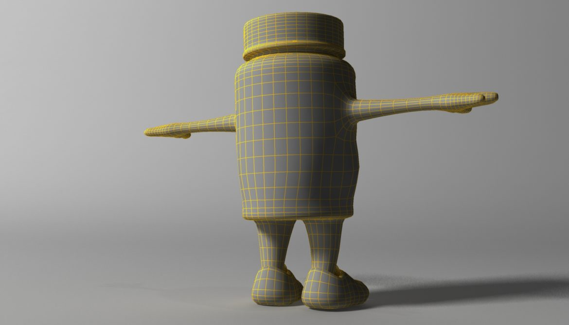 cartoon covid killer rigged and animated 3d model 3ds max fbx  obj 318035