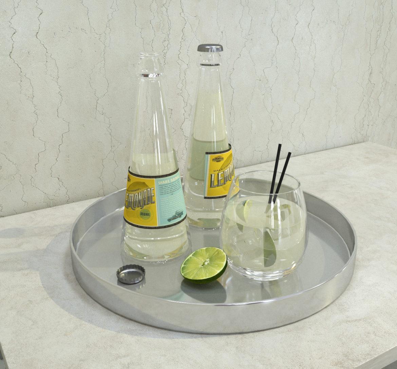 decorative set lemonade 3d model 3ds max fbx obj 318086