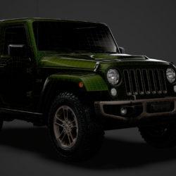 jeep wrangler 75 aniversari jk 2018 model 3ds 3ds max fbx c4d lwo ma mb 3dm hcc xsi obj 318539