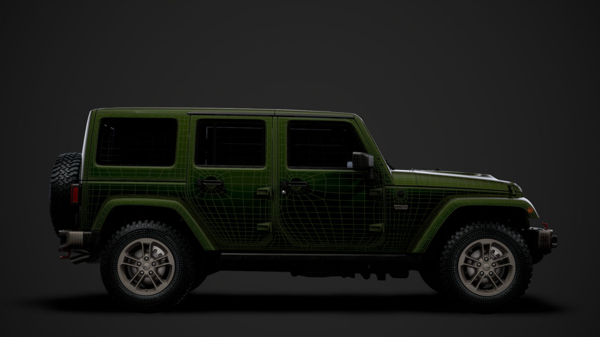 jeep wrangler unlimited 75th anniversary jk 2018 3d model 3ds c4d lwo ma mb 3dm hrc xsi obj 318560